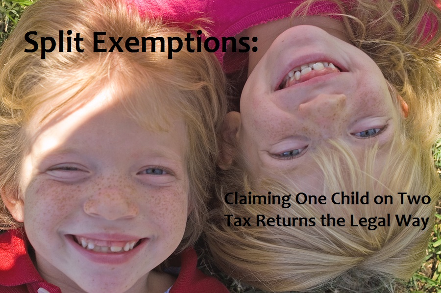 IRS rules allow for divorced parents to split a child's exemption