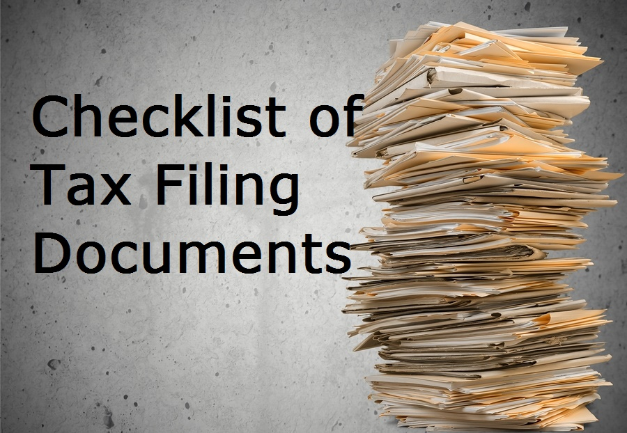 tax documents need for filing