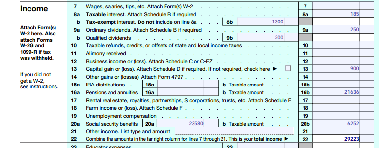 Compute your tithe using your 1040 tax from.