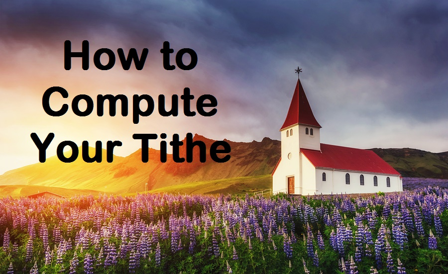 Compute your tithe using your 1040 tax return