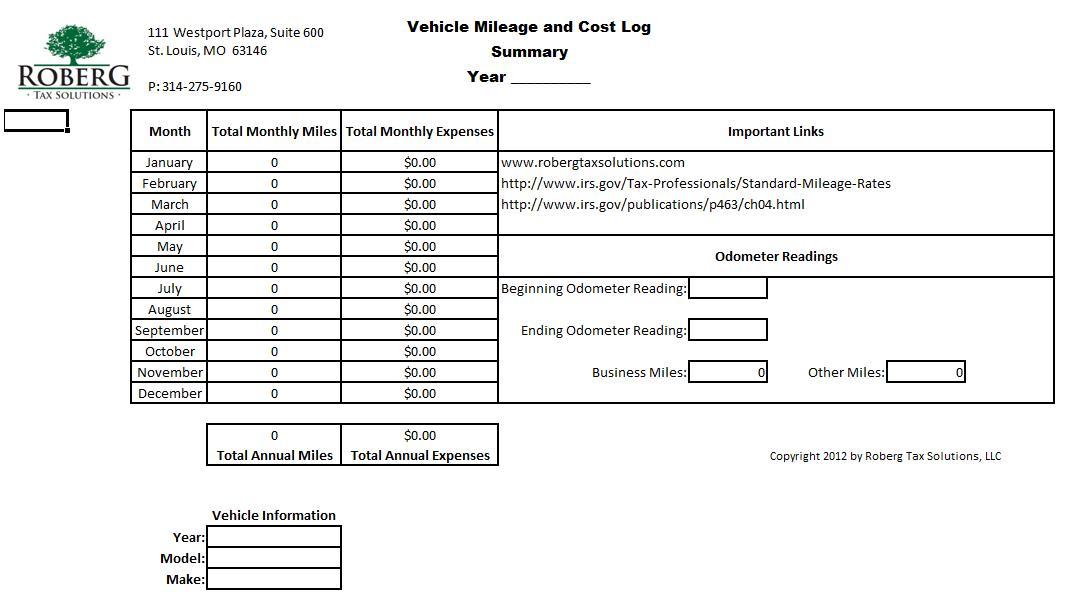 Mileage Log Robergtaxsolutions Com